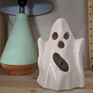 Vintage Ceramic Ghost Candle Cover